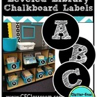 Leveled Library Book Basket Labels {Chalkboard Style / Bla