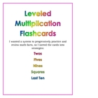 Leveled Multiplication Flashcards