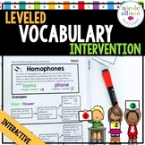 Leveled Vocabulary Intervention