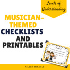 Levels of Understanding Checklist and Printables {Musician