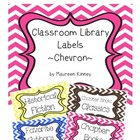 Library Labels Chevron