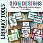 Library Signage for the Elementary Library..... 8 Differen