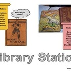 Elementary Literacy Center Sign: Library Station
