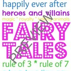Library Subway Art for Fairy Tales - Colorful