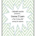 """License To Learn"" Student Get to Know Me card"