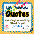 Life Principle Word Study Lexicon Activity Through the Yea