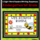 Life Science Bundle: 6 Emergent Reader Sight Word Books/Wr