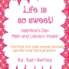 Life is so sweet!  {Math, Literacy, and Fun Treats for Val