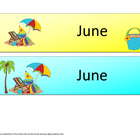 Life's A Beach June Calendar Cards