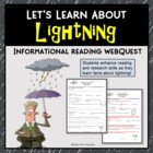 Lightning Internet Web Quest Research Activity Printable