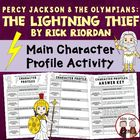 Lightning Thief Reading Comprehension Character Traits and KEY