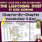 Lightning Thief Reading Vocabulary Activity and KEY (over