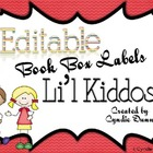 Li'l Kiddos - Editable Book Box Labels