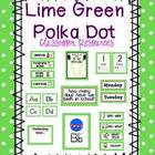 Lime Green Polka Dot Classroom Resources & Posters