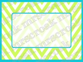 Labels: Lime Green and Turquoise Chevron, 10 per page