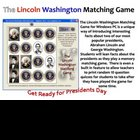 Lincoln Washington Matching Game and Test