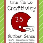 Line 'Em Up - Football Themed Number Sense Craft