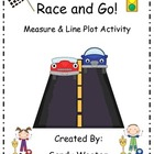 2.MD.9 Line Graph Race and Go! Measure and Line Plot Math