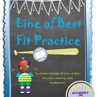 Line of Best Fit/Trend Line/Scatter plot Notes & Practice