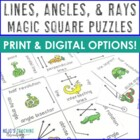 Lines Angles & Rays Magic Square Puzzle