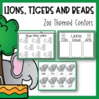 Lion, Tigers and Bears OH MY! {Zoo Themed Mega Unit}