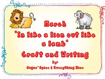 Lion and Lamb March Weather Writing and Craft