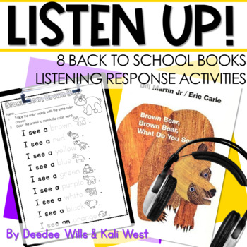 Listen UP!  Back to School Listening Station and Reading Response Unit