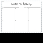 Listening Center, Listen to Reading, Sequencing Printable