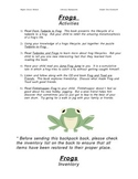 Literacy Backpack - FROGS