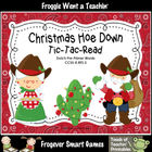 Literacy Center--Christmas Hoe Down Tic-Tac-Read (Pre-Prim