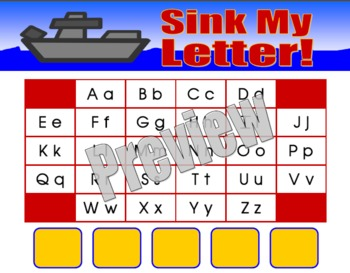 Literacy Center Game - Sink My Letter!