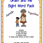 Literacy Center Gram and Me Sight Word Pack Treasures Read