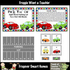 Literacy Center -- Park Your Car Sight Word Parking Lot (F