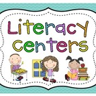 Literacy Center Pocket Chart Cards and Posters