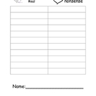 Literacy Center- Valentine CVC and Nonsense Word Recording Sheet