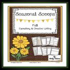 Literacy Centers: Creative Writing: Fall Seasonal Scoops