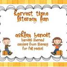 Literacy Centers For Fall:Harvest Themed Mini Packet