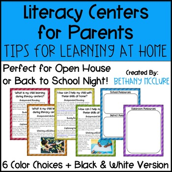 Literacy Centers for Parents: Tips & Tricks for Learning at Home