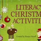 Literacy Christmas Activities - Writing, Spelling, Sorting