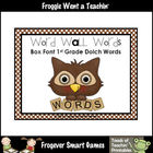 Literacy Resource -- Box Font 1st Grade Dolch Word Wall Words