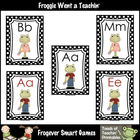 Literacy Resource -- School Froggies Word Wall Headers (sm