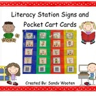 Literacy Station Signs and Pocket Chart Cards for Guided Reading