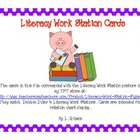 Literacy Work Station Cards