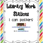 Literacy Work Stations I Can Posters