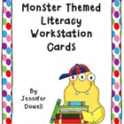 Literacy Workstation Cards- Monster Themed