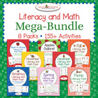 Literacy and Math MEGA BUNDLE - 8 Packs with 155+ centers