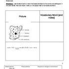 Literacy in Science - Life Processes Vocab Worksheet