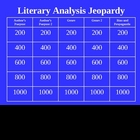Literary Analysis: Jeopardy PowerPoint for Literary Analysis