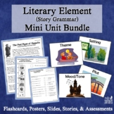 Literary Elements Complete Mini-Unit: Flashcards, Quizzes,