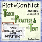 Literary Elements: Plot Interactive Notebook or Cornell No